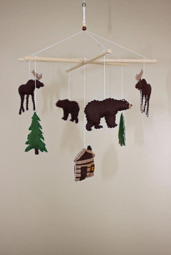 die besten 25 rustikale baby mobiles ideen auf pinterest kinderzimmer mit camping motiv. Black Bedroom Furniture Sets. Home Design Ideas