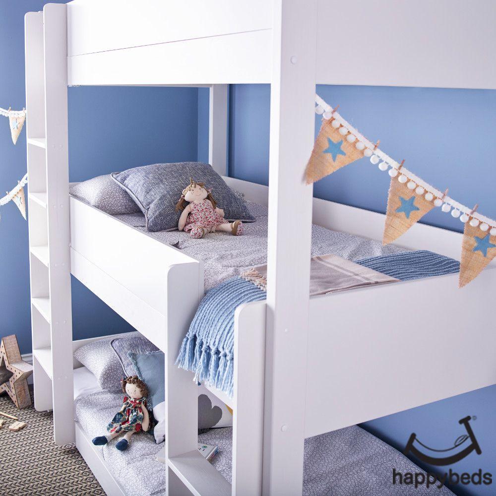Snowdon White Wooden Triple Sleeper Bunk Bed Triple