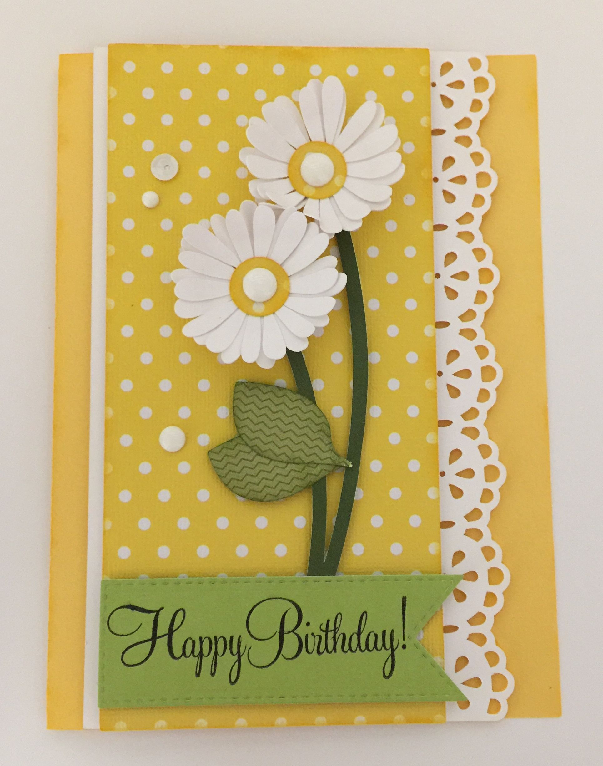 Birthday Card With Images Daisy Cards Handmade Birthday Cards