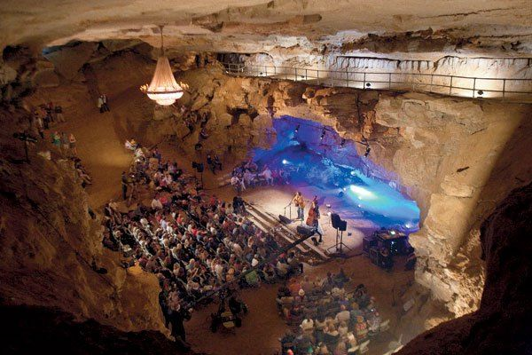 Volcano Room performing space, Cumberland Caverns in TN