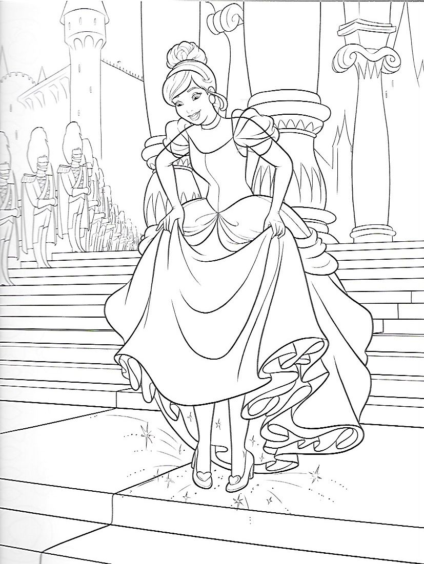 Pin By Frances Edayan On 2 Coloriage Cinderella Coloring Pages Coloring Pages Princess Coloring Pages