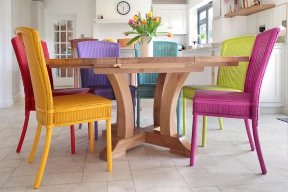 Stamford Dining Chairs In Various Bright Colours By Lloyd Loom Of Spalding