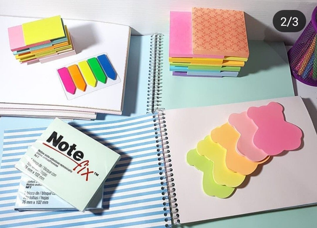 Papel caderno cores folhas note fix notas bloco de notas post it ...