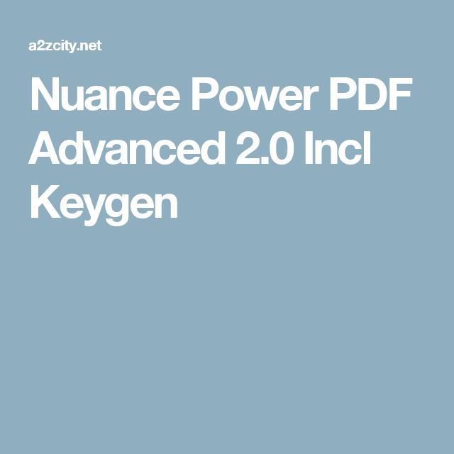 nuance power pdf advanced 2 keygen