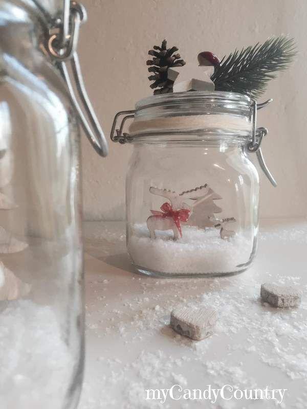 Come costruire snow globe fai da te in barattoli di vetro for Costruire nuove idee per la casa
