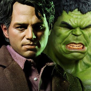Marvel Bruce Banner and Hulk Sixth Scale Figure Set