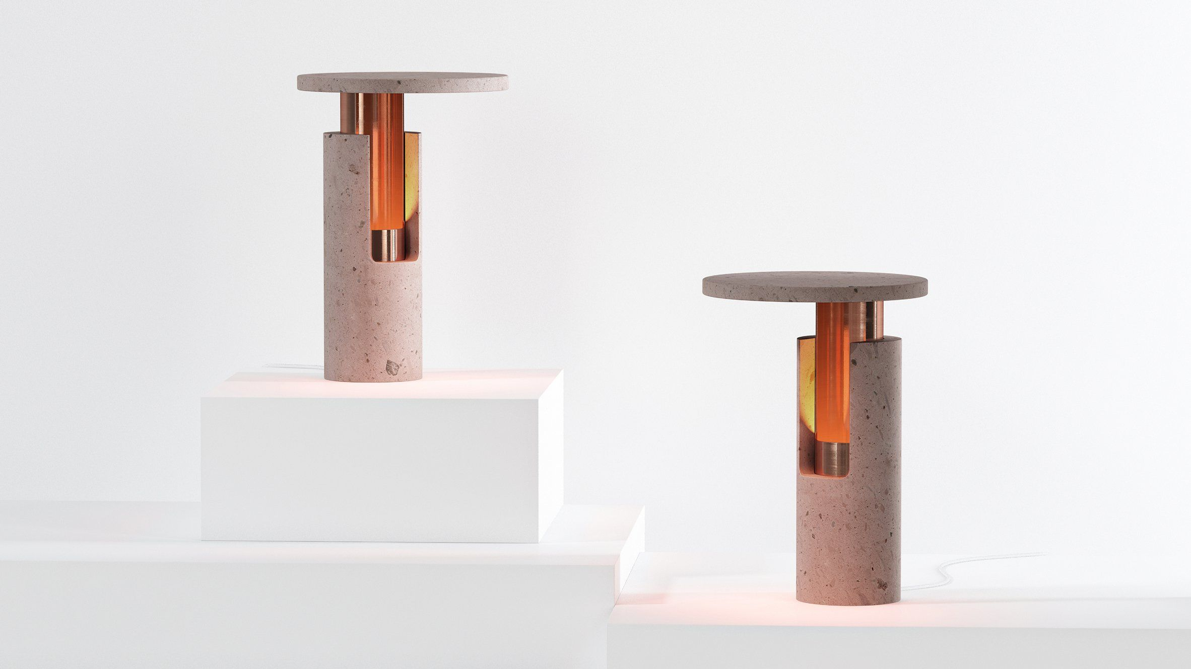 Ambra lamps by davidpompa furniture design pinterest walls and davidpompa pairs pink volcanic rock and copper for ambra lamp range mozeypictures Gallery