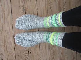 The Funky Fox: DIY - Hæklede sokker   Hæklede sokker