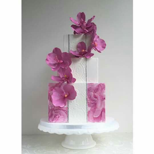 Orchid cake from The Cake Whisper