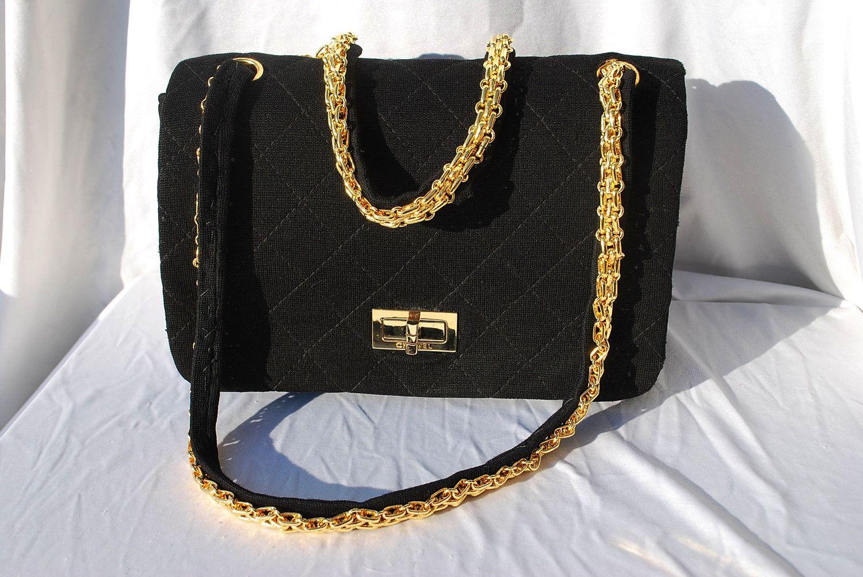 7b59005d5b39ce Vintage CHANEL bag the original 1950's 2 55 quilted jersey bag restored  original Chanel handbag bag by thekaliman. $2,000.00, via Etsy.