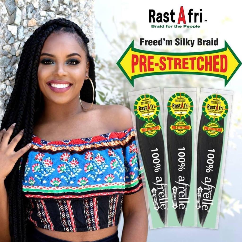 Rastafri Freed M Silky Braid Pre Stretched 100 Afrelle Fiber Kanekalon Braiding Hair Braided Hairstyles Braids