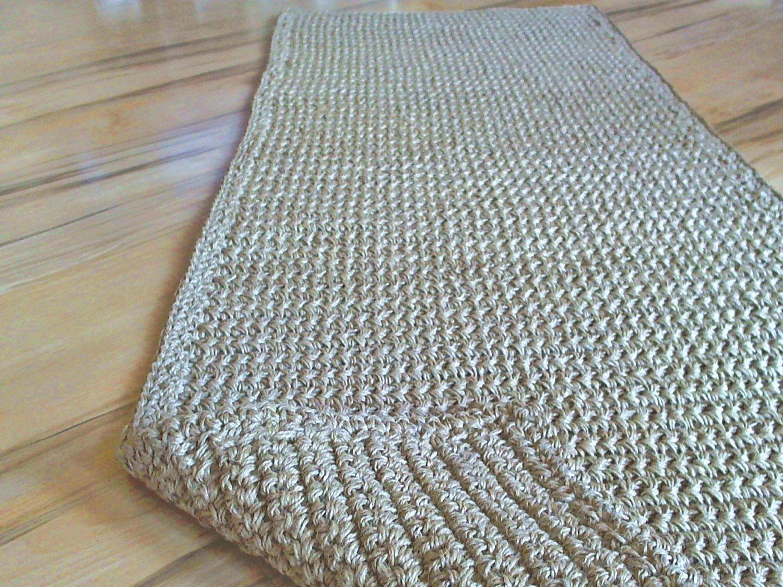 Hallway Rug Rug Runner 270 Cm Jute Rug Hand Crochet Rug
