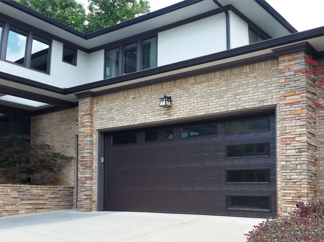 Front entry doors amp double doors in edmonton cambridge window - Modern Gray Garage Doors Google Search