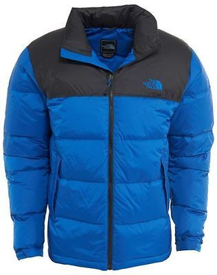 41dc4c68d North Face Nuptse Mens C759-X3C Blue Black Goose Down Insulated ...