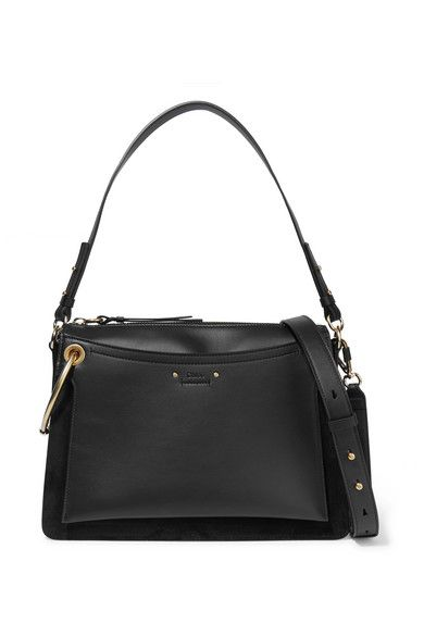 Roy Medium Leather And Suede Shoulder Bag - Cream Chlo F3xs30Akh