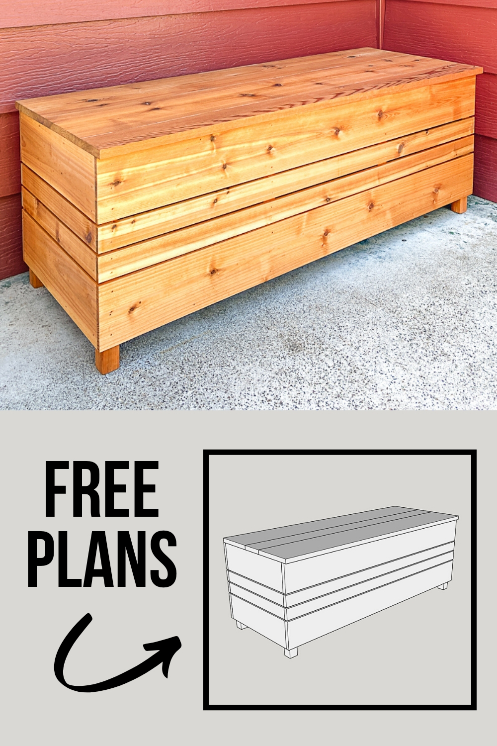 Diy Outdoor Storage Box With Free Plans In 2020 Outdoor Storage