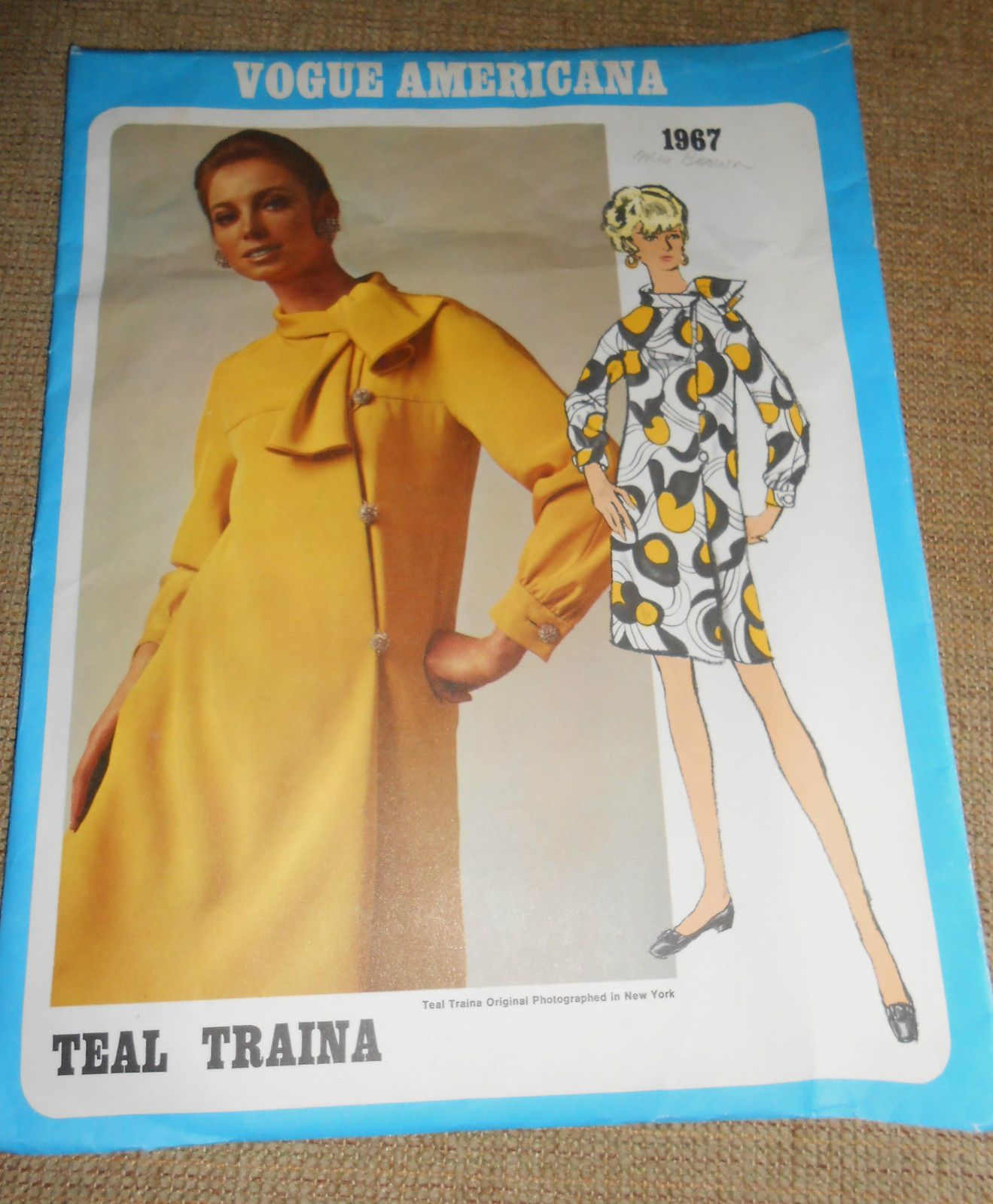 1960's Vintage Vogue Americana Sewing Pattern 1967 Teal Traina Sz 10 Dress | eBay