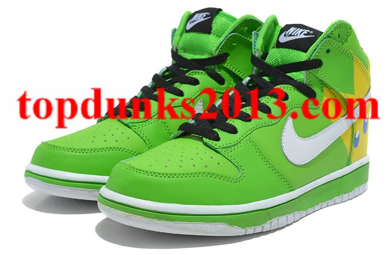 the best attitude 2ccc6 18f7b ... canada angry birds nike dunk green yellow king pig high tops internet  sales daa8f 69f9c