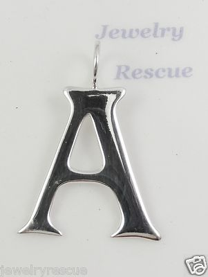"Silpada S3501 Sterling Silver Charm Pendant Large Letter ""A"" New RARE 