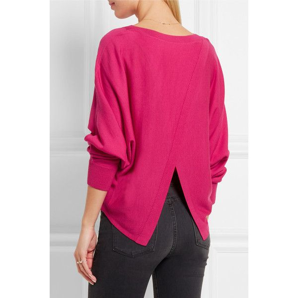 Vanessa Bruno Famed open-back merino wool sweater ($355) ❤ liked ...
