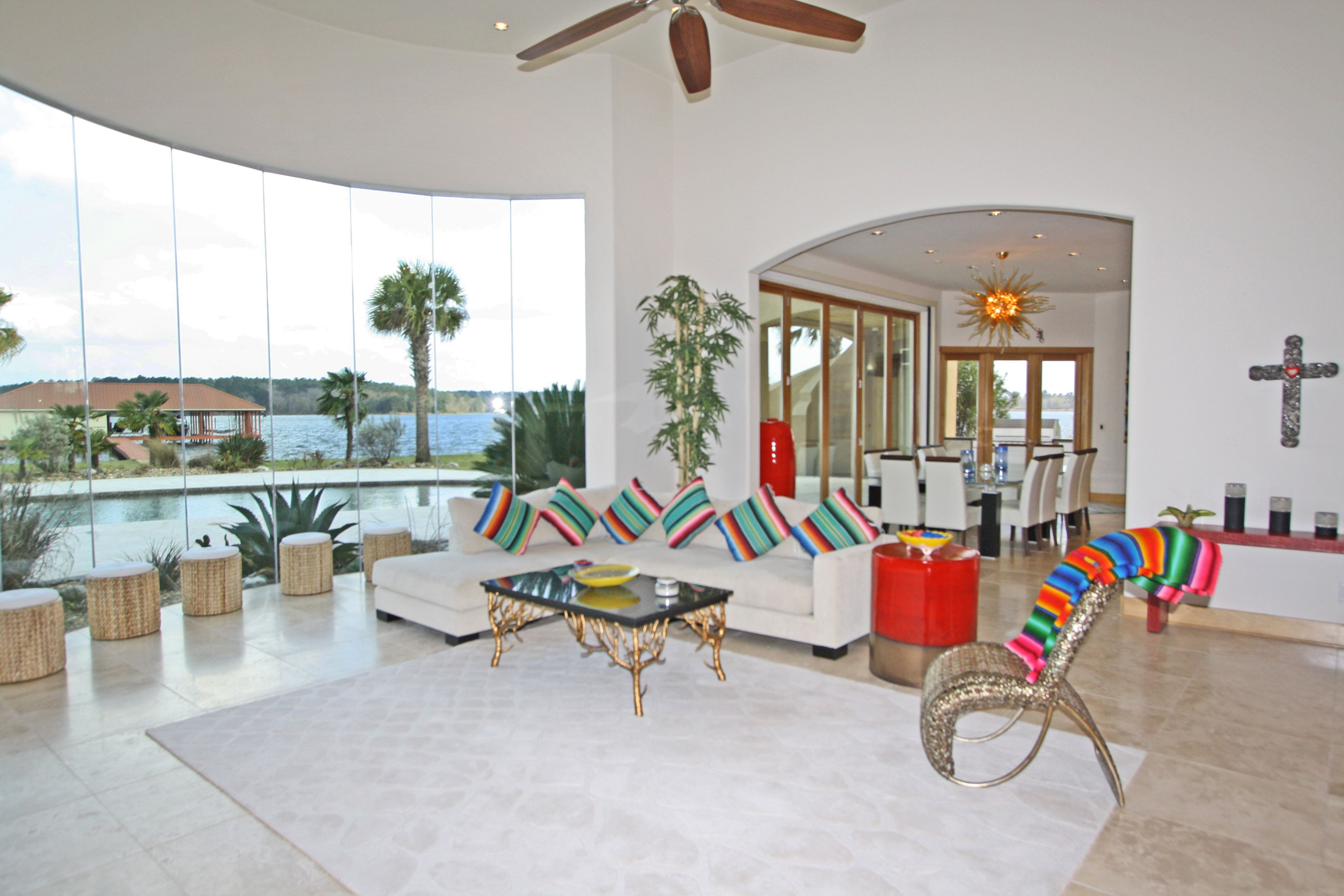 Incredible Spanish Style Home on Lake Tyler in Whitehouse