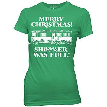 Ripple Junction National Lampoon's Christmas Vacation Merry Christmas! Sh#@%er Was Full Junior's T-Shirt