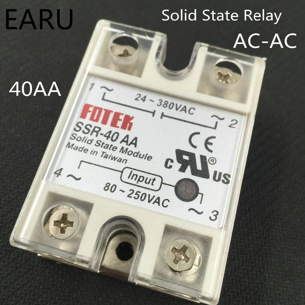 1 Pcs Ssr 40aa 40a Single Phase Solid State Relay Input 80 250v Ac Taiwan Output 24 380v Good Quality 40 Aa Factory Wholesale Affiliate