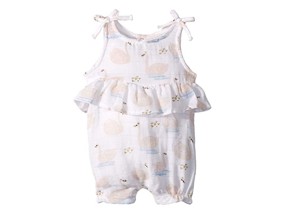 Mud Pie Baby Girls Muslin Rose Romper Infant//Toddler