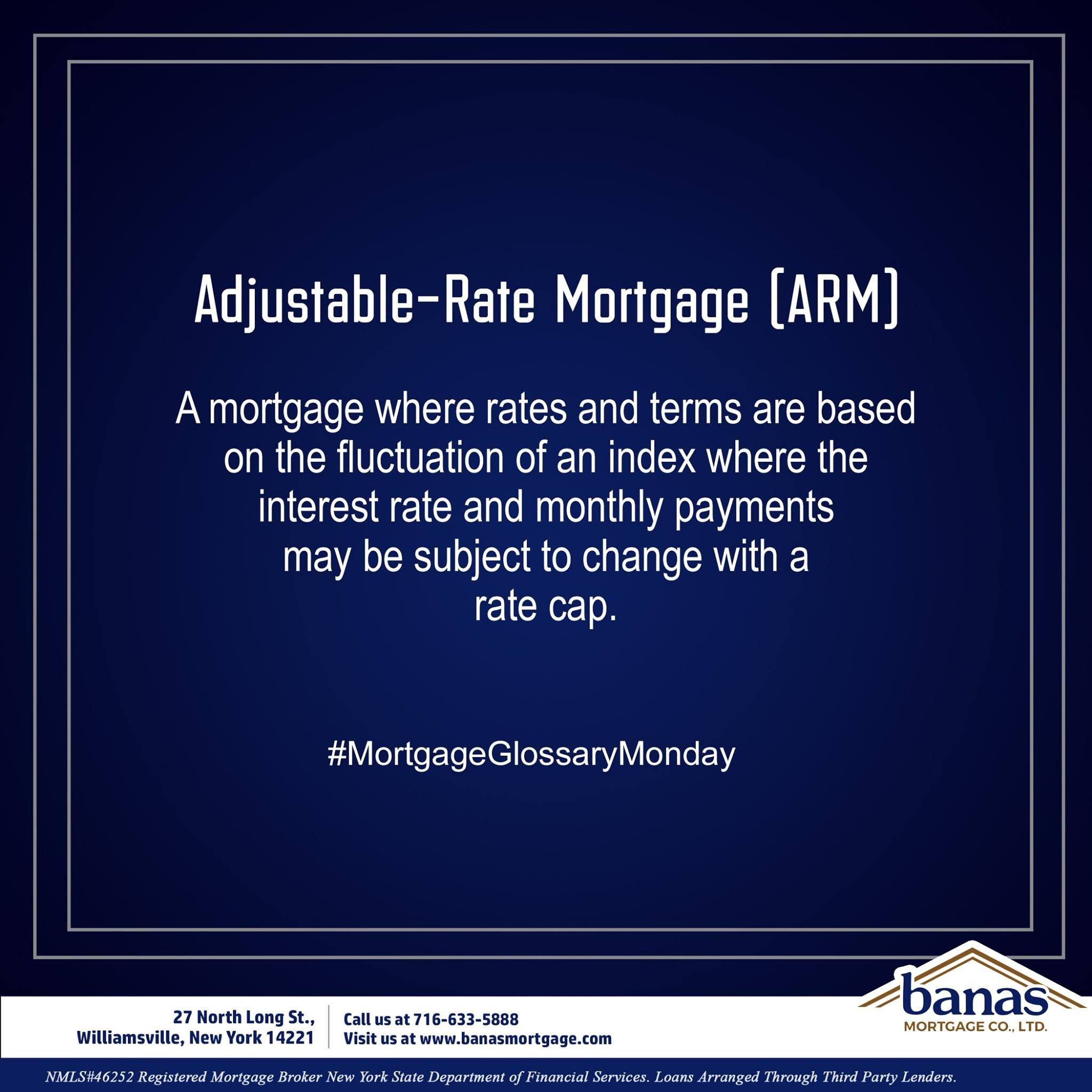 Today S Mortgage Glossary Term Is Adjustable Rate Mortgage Arm