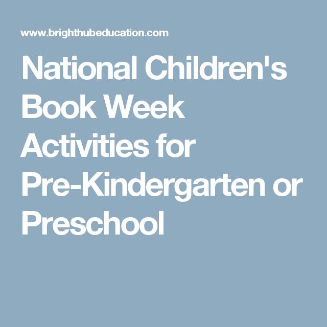 National Children\'s Book Week Activities for Pre-Kindergarten or ...