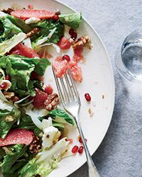 Grapefruit-and-Escarole Salad -excellent winter salad with goat cheese, toasted walnuts and pomegranate seeds.
