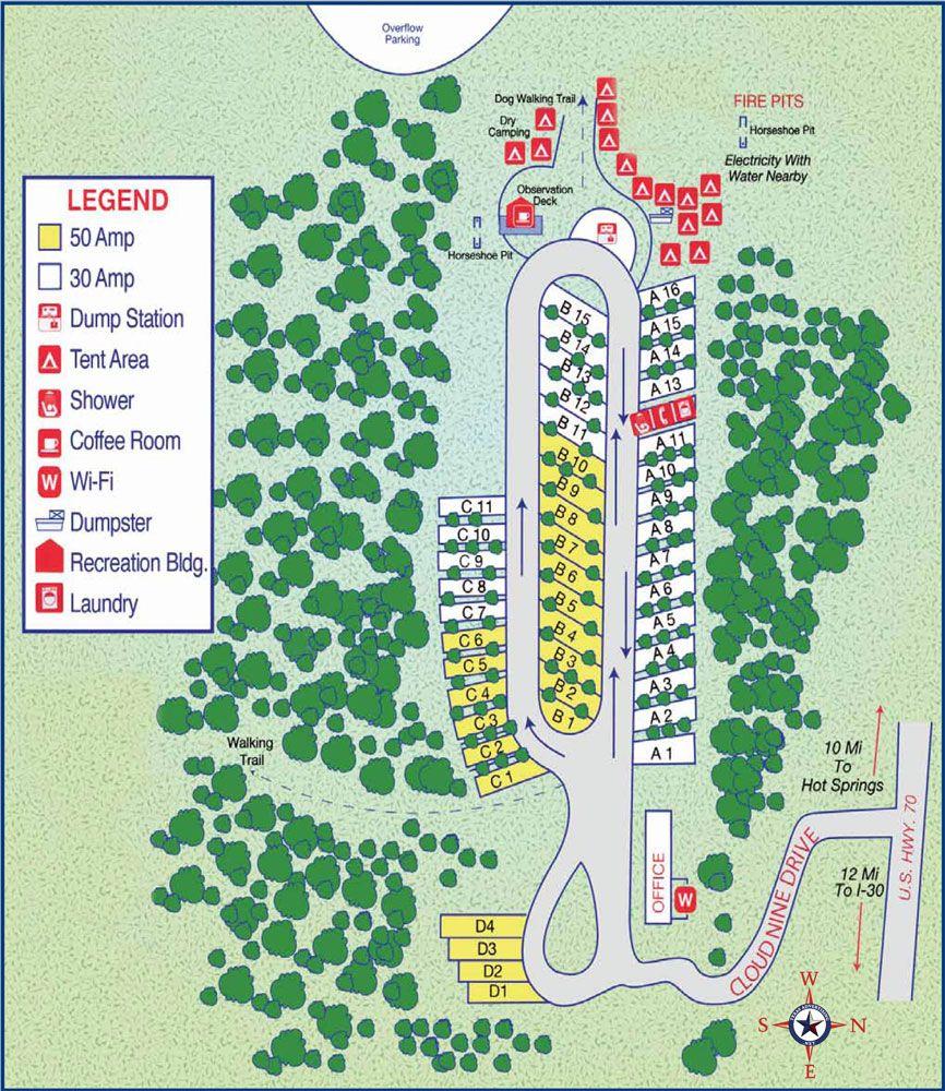Cloud Nine Site Map it is in Hot Springs Ar