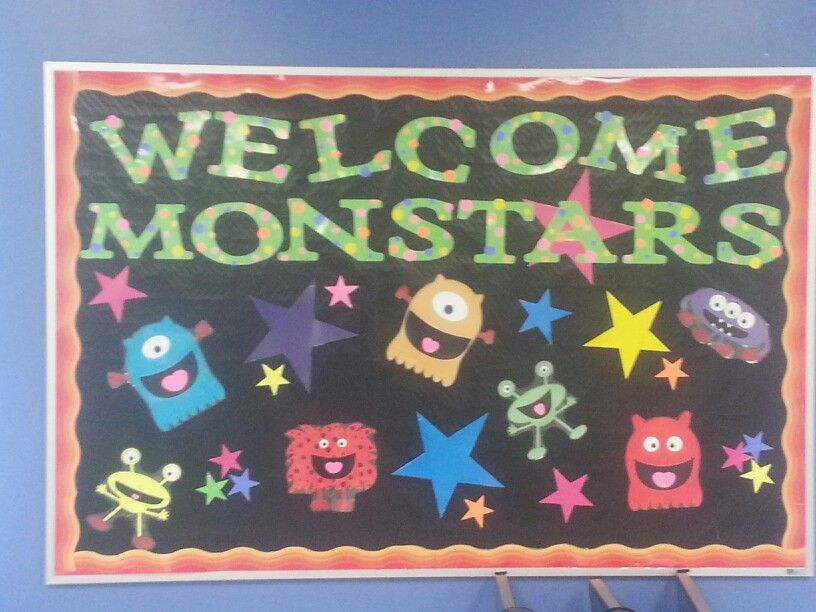 Monster Classroom Decor : Welcome monstars classroom bulletin board monster themed