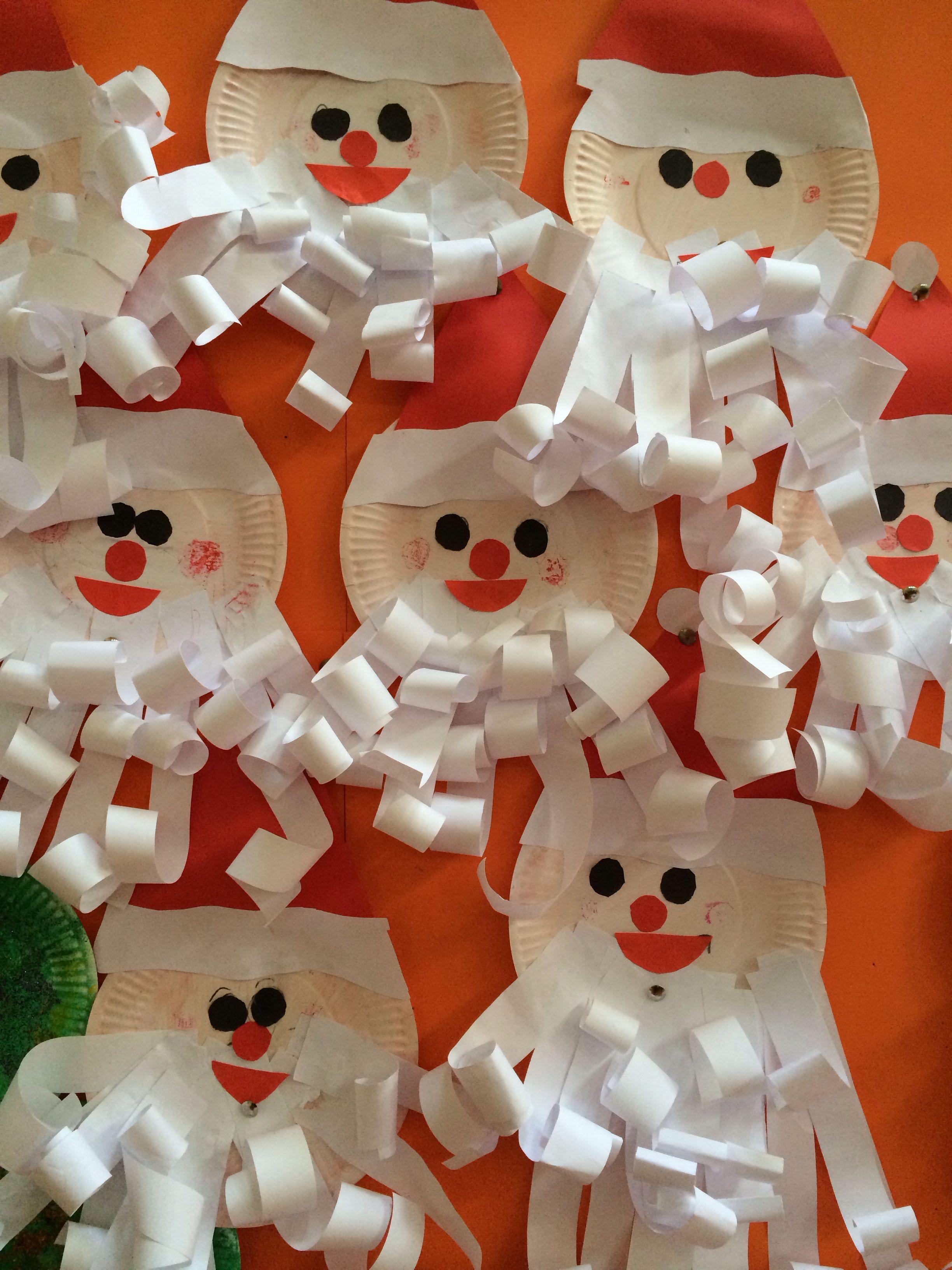 Mrs Jones Christmas craft for kids Paper plate Santa