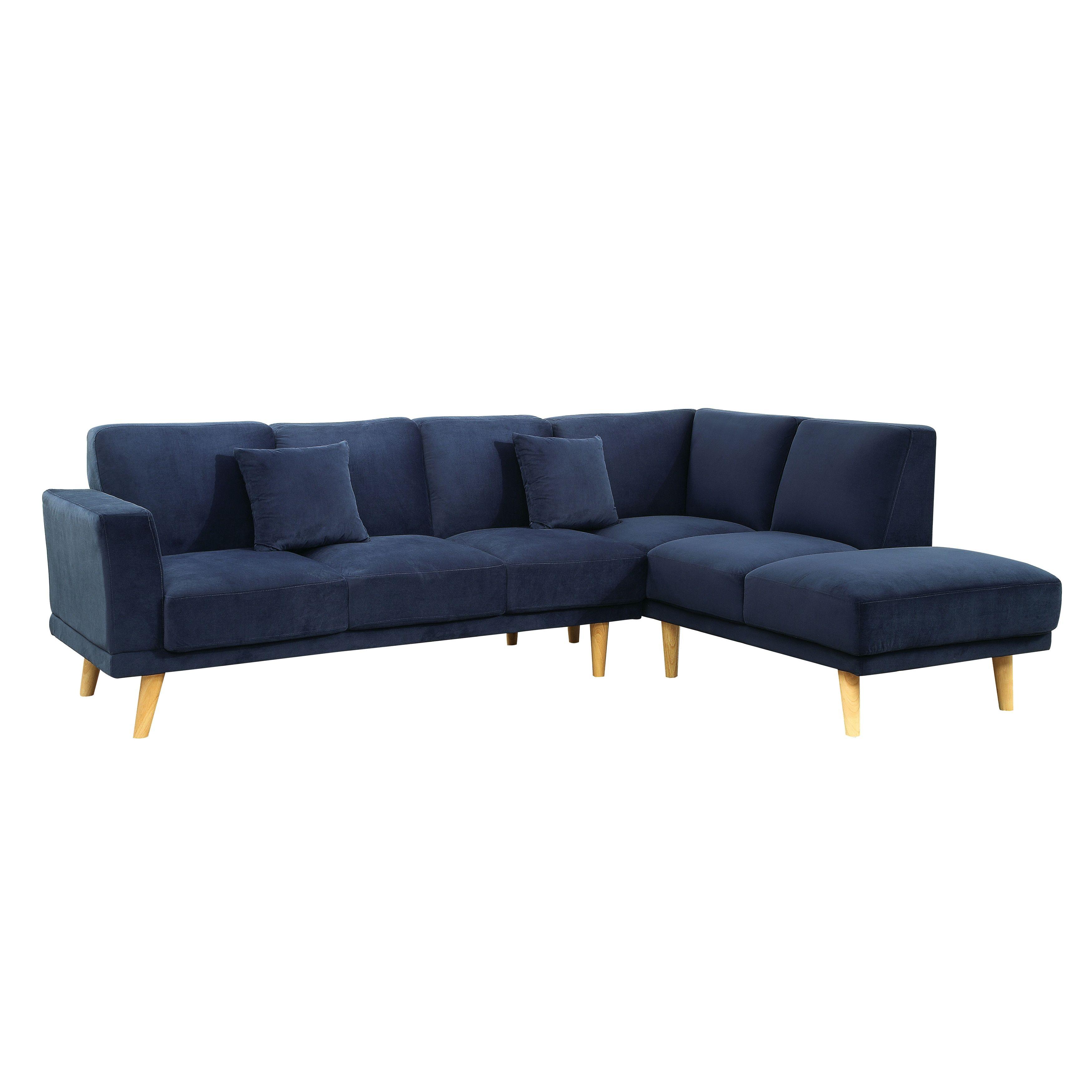 Furniture Of America Rama Mid Century Modern Flannelette L Shaped
