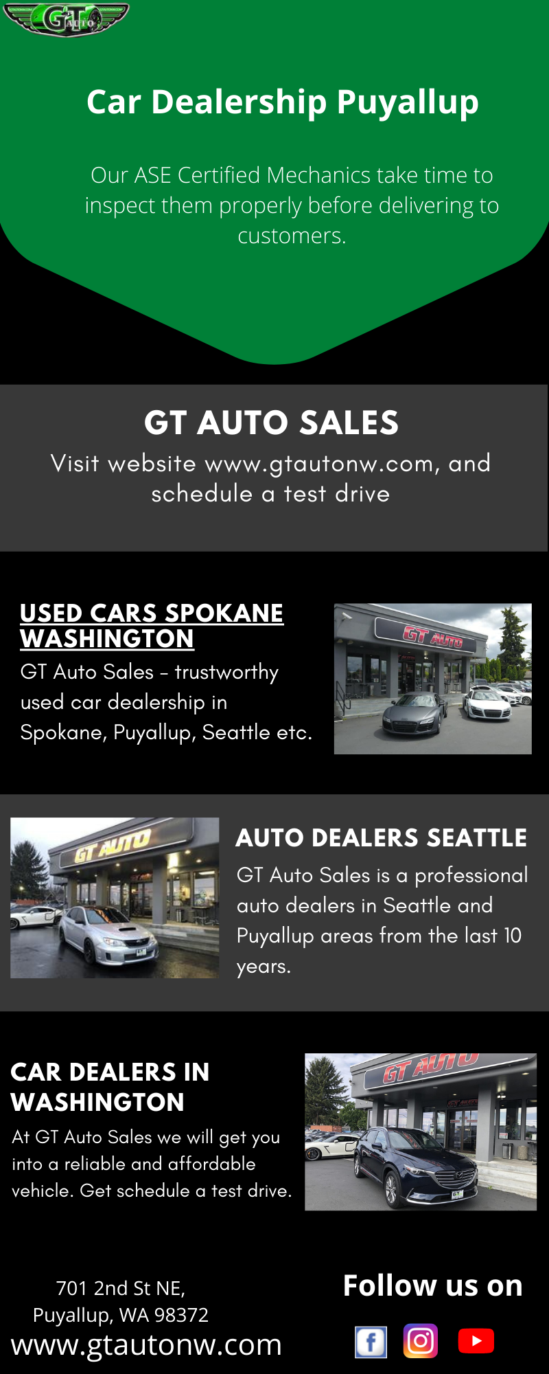 Used Car Dealer Puyallup Gt Auto Sales Cars For Sale Luxury Car Dealership Used Car Dealer