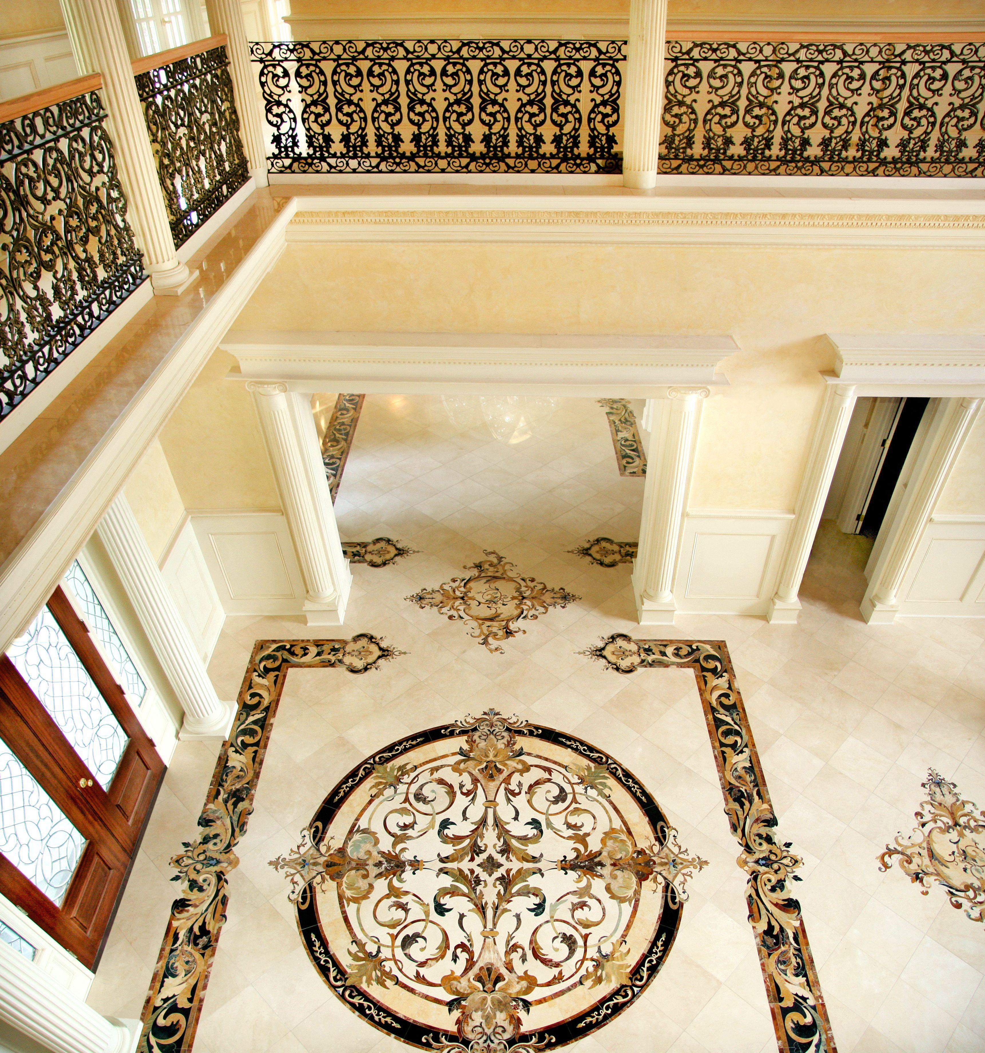 Medaillons Borduren Und Akzente Von Aalto Fugen Sich Nahtlos In Die Umgebung Ein In 2020 Bodengestaltung Marmor Foyer Foyerdesign