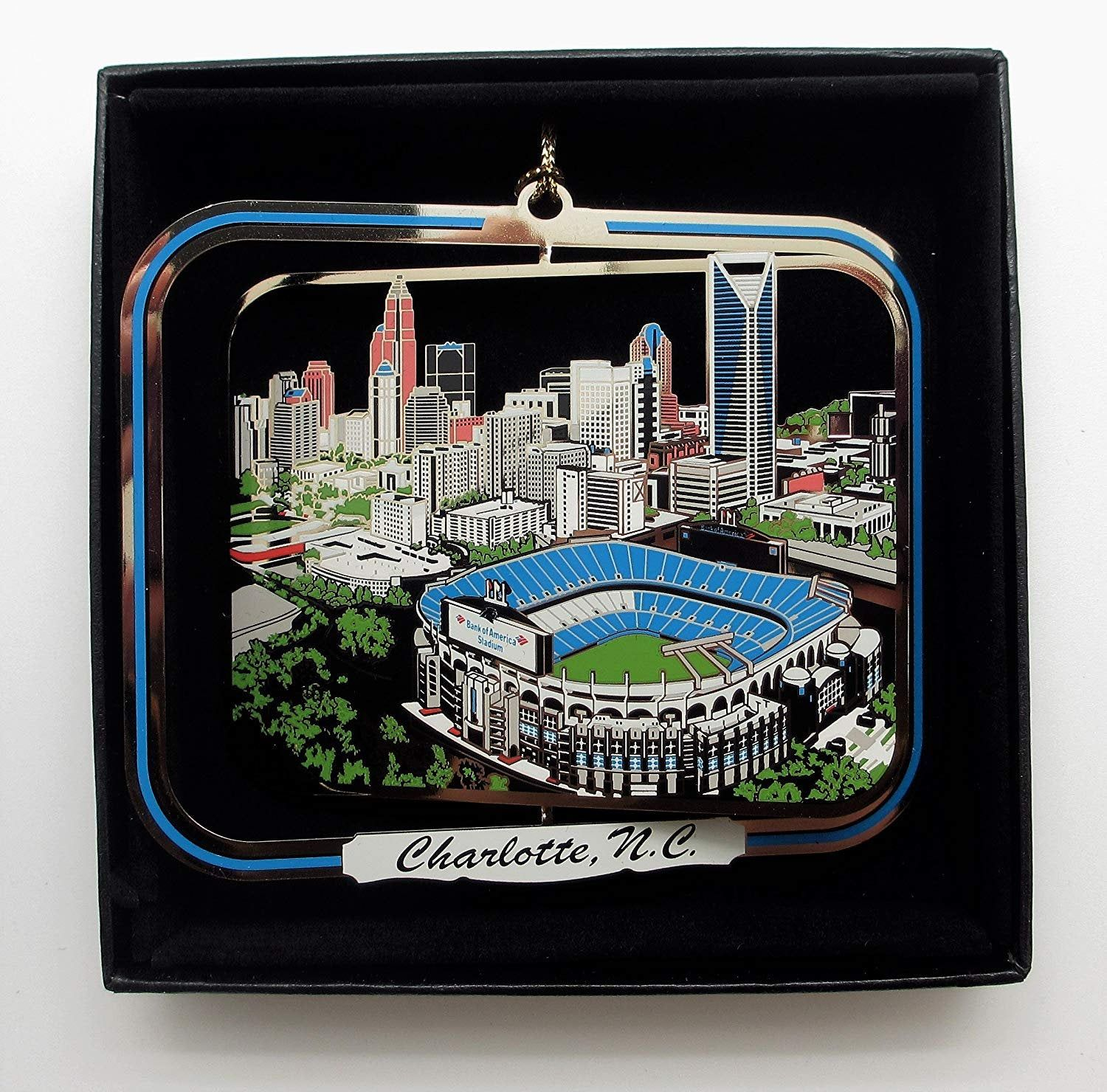 Christmas Show 2021 Charlotte Nc Charlotte Nc Landmarks Brass Ornament Etsy In 2021 Brass Ornaments How To Make Ornaments Business Gifts