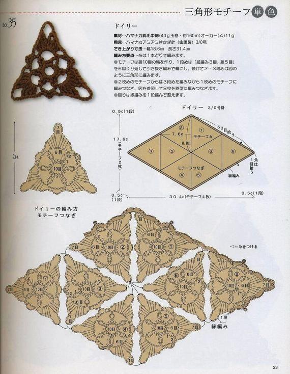 crochet doily pattern ebook PDF japanese crochet ebook Crochet nouvelle vague instant download Crochet motif patterns