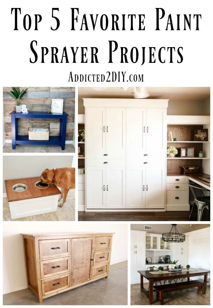 Top 5 Favorite Paint Sprayer Projects are sure to give you some diy decor inspiration! #DIYprojects #paintedfurniture #paintsprayer #paint