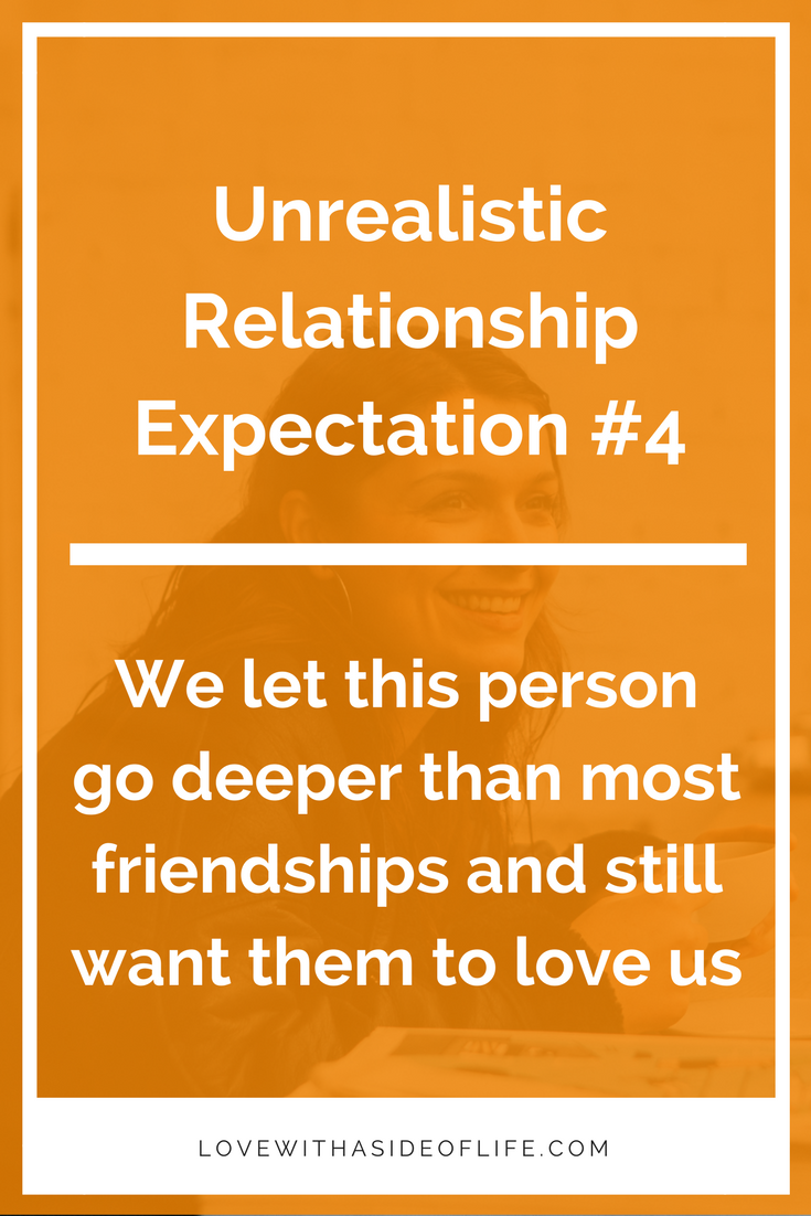 Dating someone with unrealistic expectations