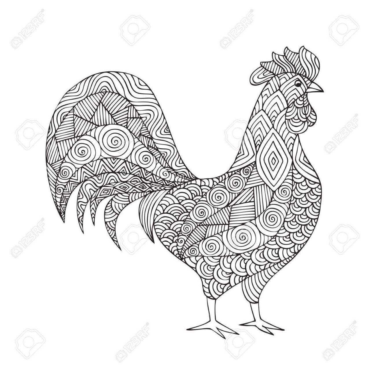 25 Brilliant Photo Of Rooster Coloring Page Coloring Pages