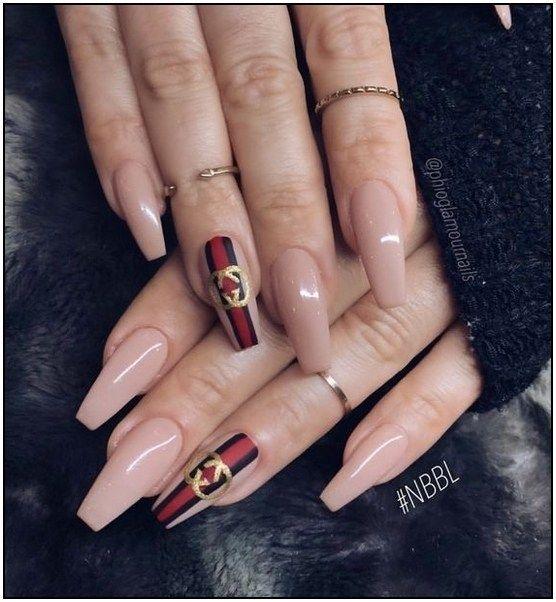 73 Acrylic Nail Designs Of Glamorous Ladies Of The Summer Season Page 29 Chic Nails Gucci Nails Nails