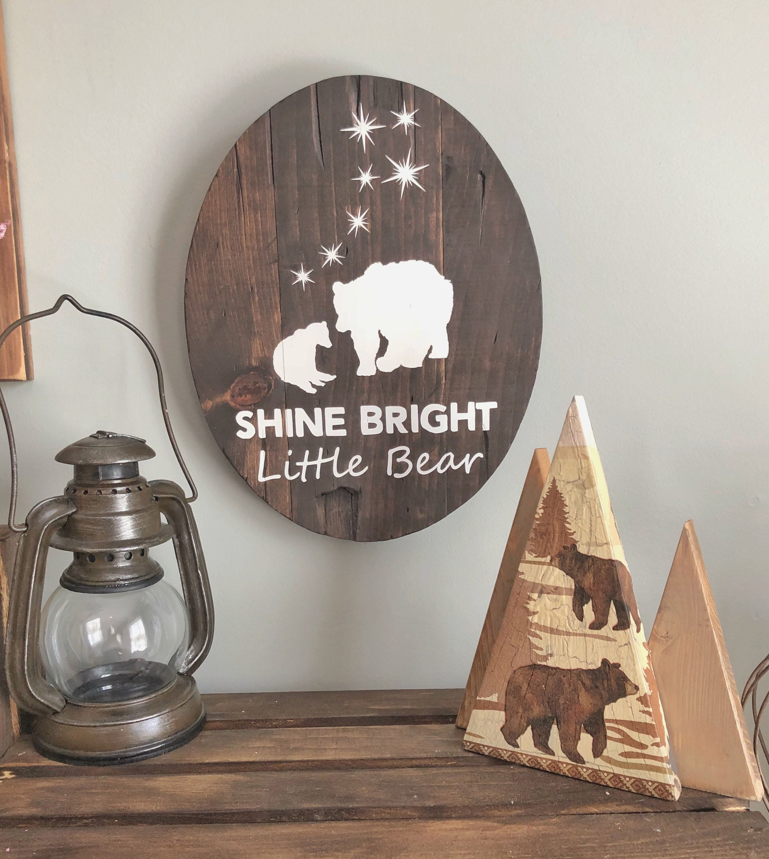 Shine Bright Little Bear Wall Decor Woodland Nursery Https Www