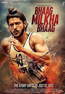 Bhaag Milkha Bhaag poster film, ulasan film, movies, movie review, true story, running, india, sports, biography.