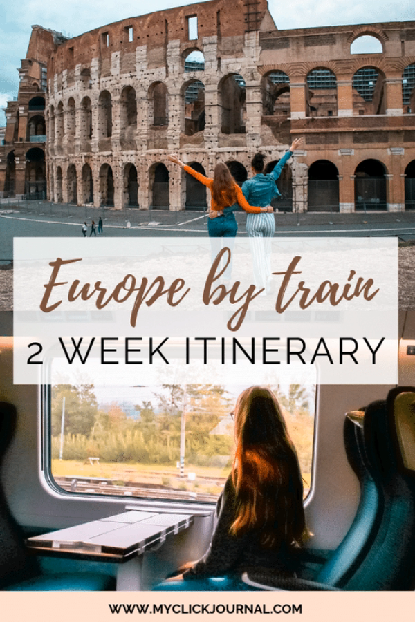 Here is my ultimate Europe by train travel guide for interrail and eurail passes! Ive visited 6 countries in 16 days, so it's a 2 week itinerary across western Europe, including Paris, Brussels, Amsterdam, Cologne, Milan, Rome and more! Check out the post to find out what to pack for Europe, what to do on the train, my bucket list for this Europe trip, and much more #europetravelguide #europebytrain #europe