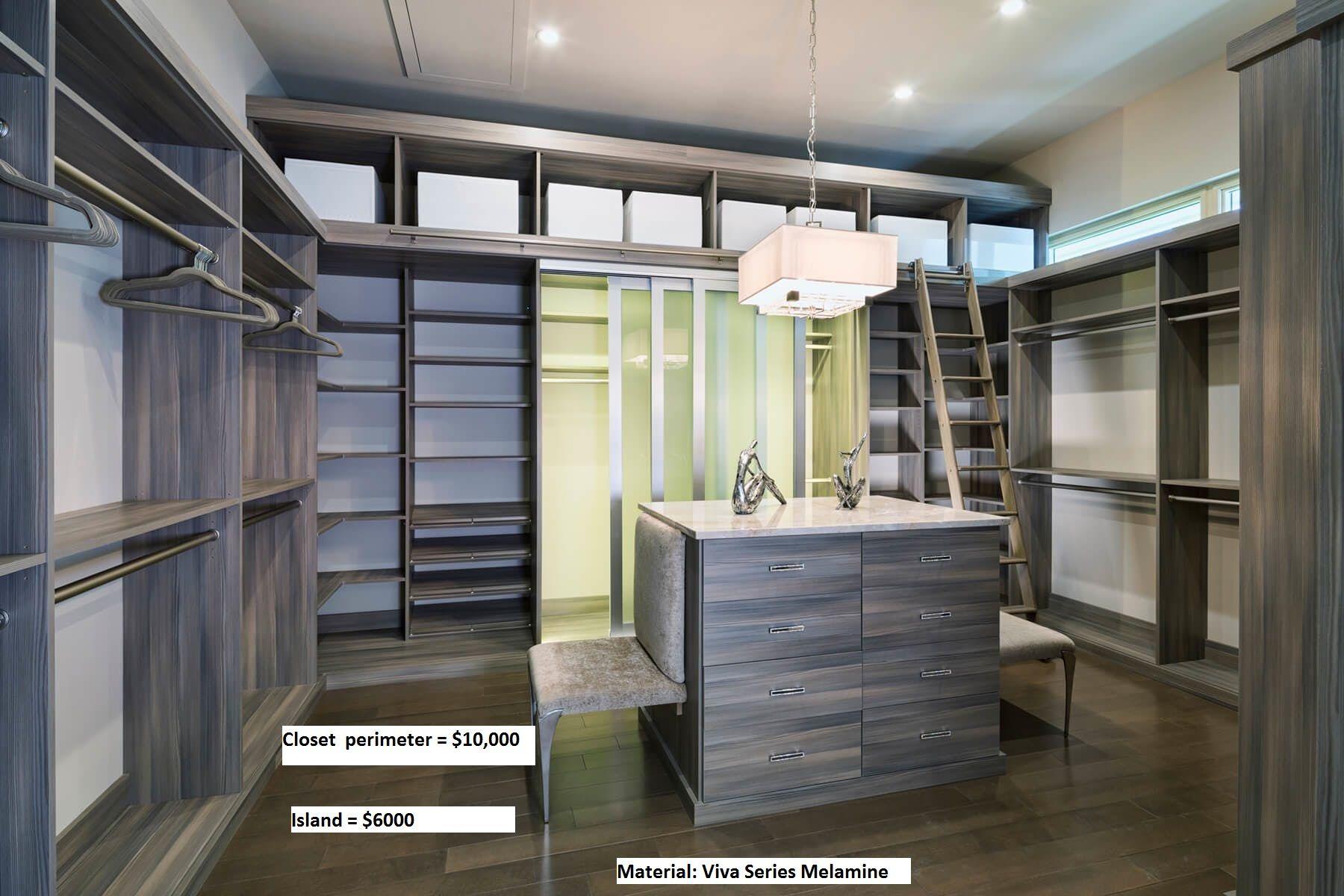 Closet factory walk in closet in tafisa embossed melamine closetfactory closetfactorydc rbrdesign moderncloset