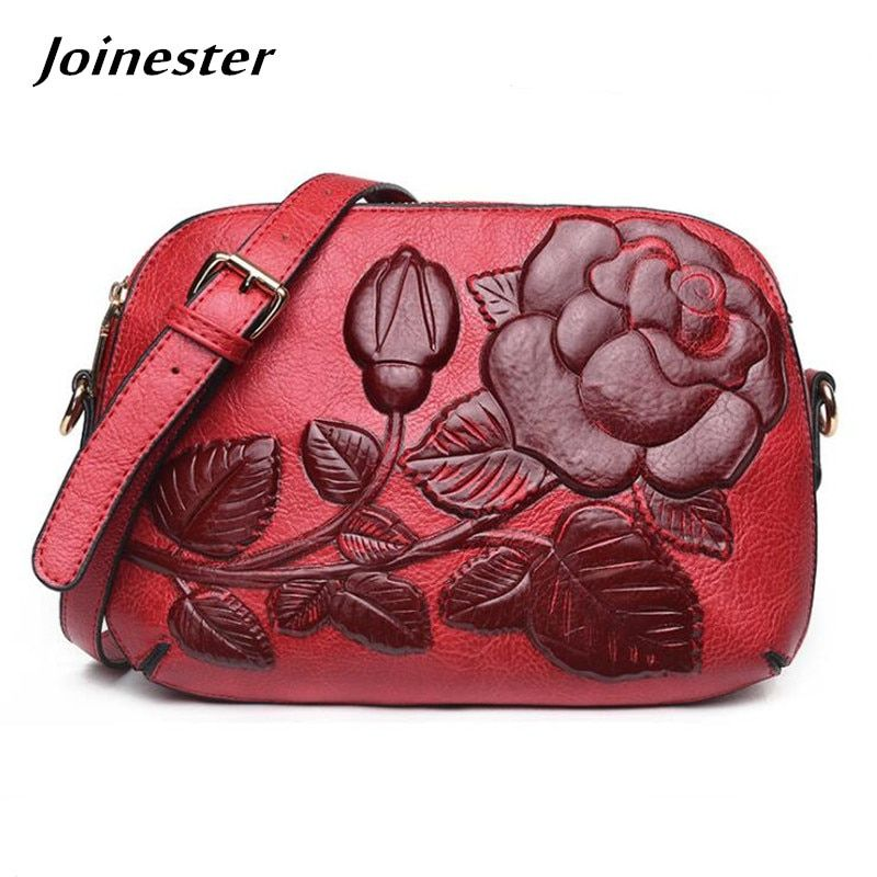 b1ecf7cf34f5 Leather #Vintage #Small Satchel Shoulder #Bag #Flower #Embossing ...