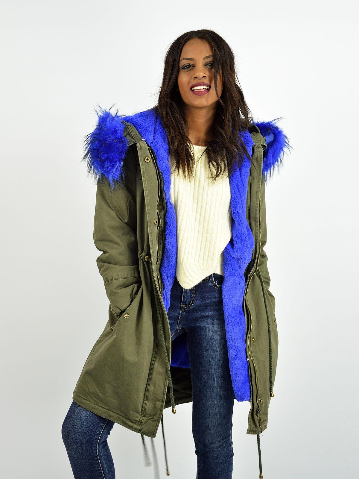 684a76253b24 D81068 Μπουφάν Παρκά με Αποσπώμενη Επένδυση Γούνας - Decoro - Γυναικεία  ρούχα