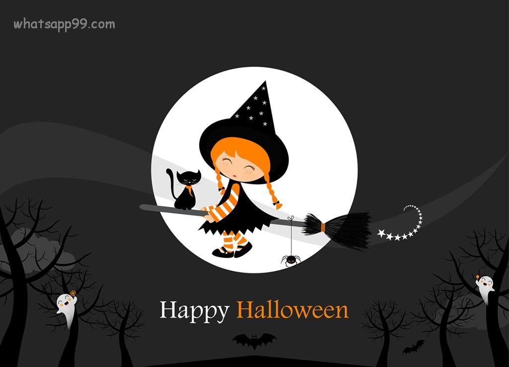 Lovely Beau Funny Happy Halloween Message Cartoon. Merveilleux Happy Halloween  Wallpaper
